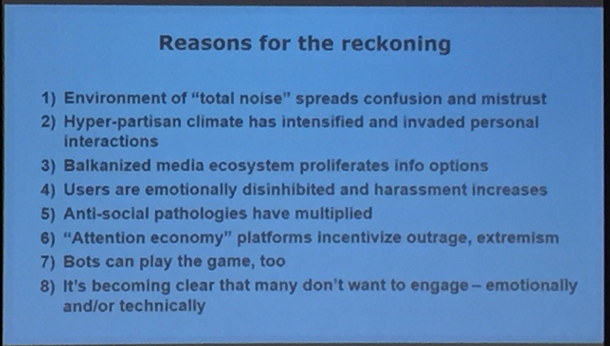 @lrainie: Reasons for the Reckoning of Social Media #SMSociety https://t.co/pq3xlvvTgK