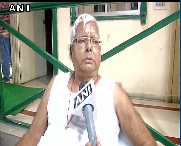 I talked to Sharad Yadav over phone. I appeal to him that come &go to every corner of country, take command of this fight: Lalu Prasad Yadav