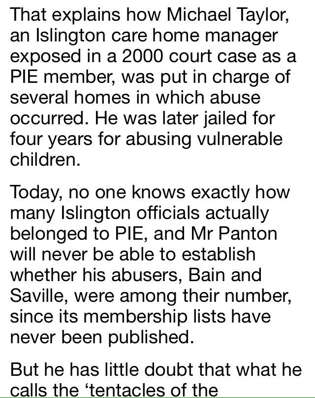 5aec52426 Importantly @guyadams reported Gisburne House cater Michael Taylor revealed  as PIE member in his 2000 trial & conviction