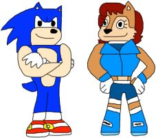 @BadSonicFanArt  Here Some Sonic & Sally Fanart I Found.