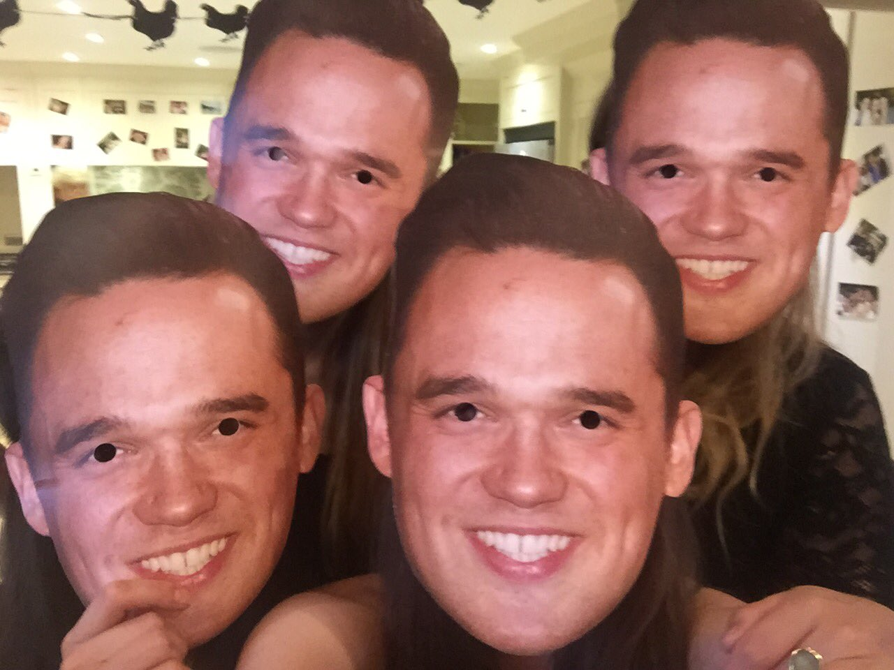 RT @kayleighmartin: 🥂 @Gareth_Gates when you're at a hen do and your masks are of the Bride's childhood crush ❤️❤️ https://t.co/Fy0oXikFld