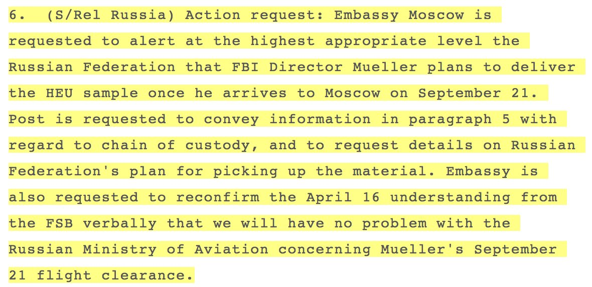Special Prosecutor Robert Muelller flew to Moscow and gave the FSB 10 grams of Highly Enriched Uranium (HEU) in 2009 https://t.co/mNdcTa7boQ