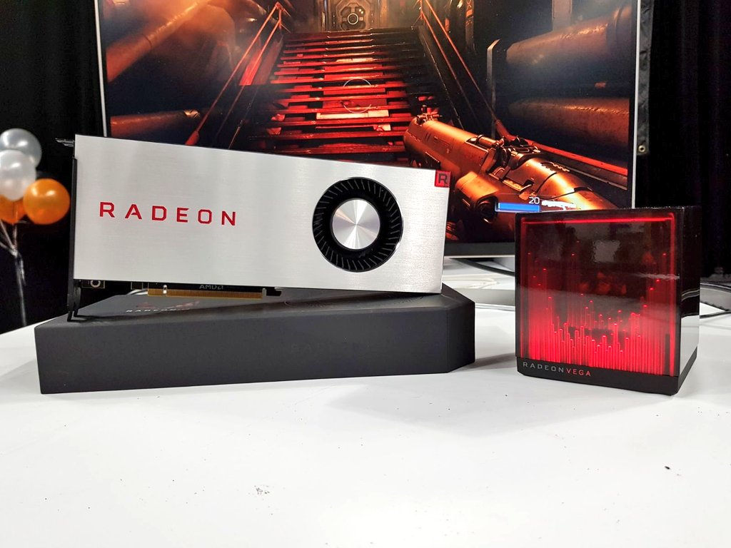 Presenting for the first time at #LTX2017: the one-of-a-kind Radeon #RXVega & Holocube, enabled by Radeon Software.