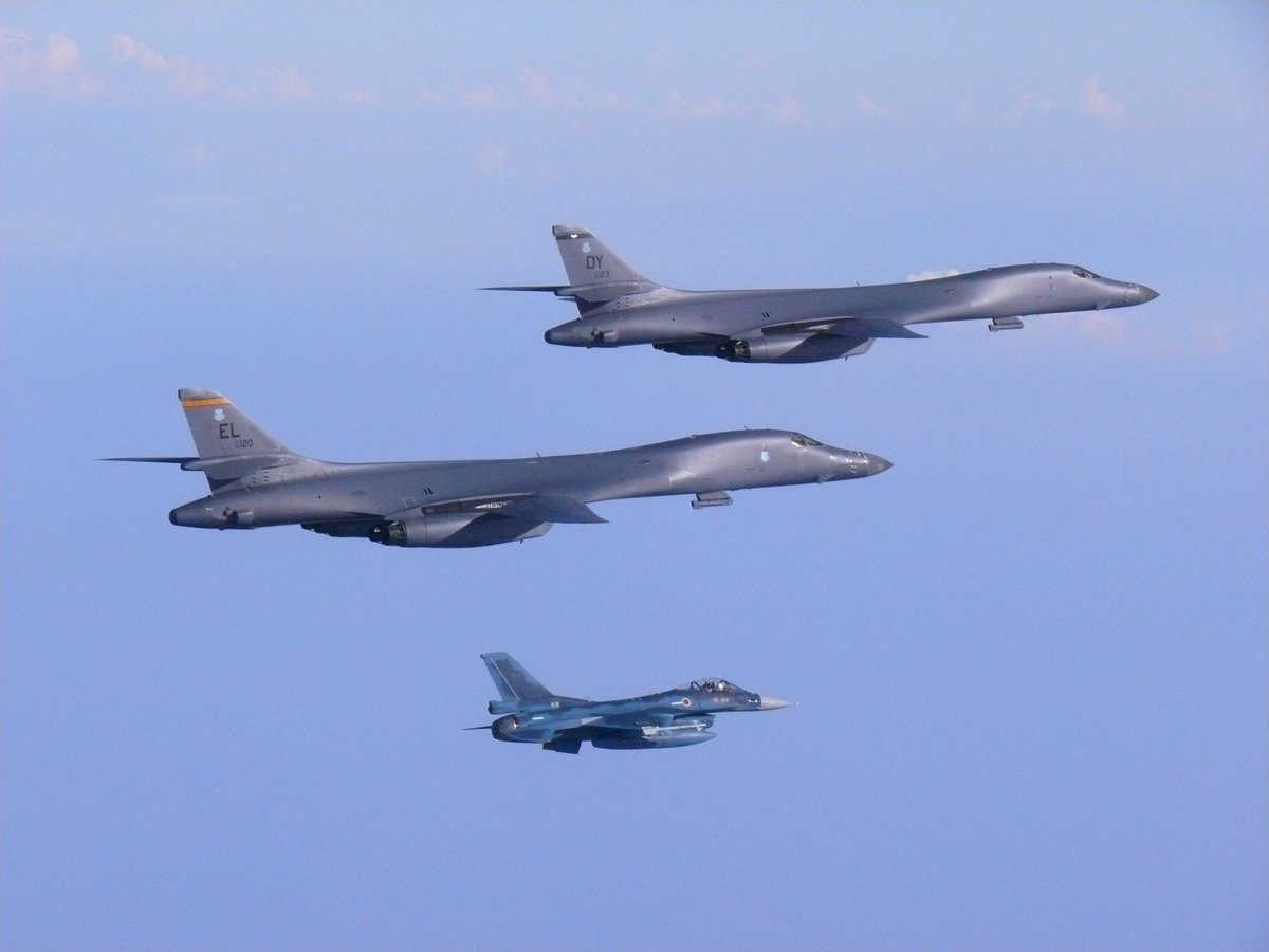 BREAKING: U.S., Japanese and South Korean fighter jets fly over the Korean Peninsula in show of force against North Korea