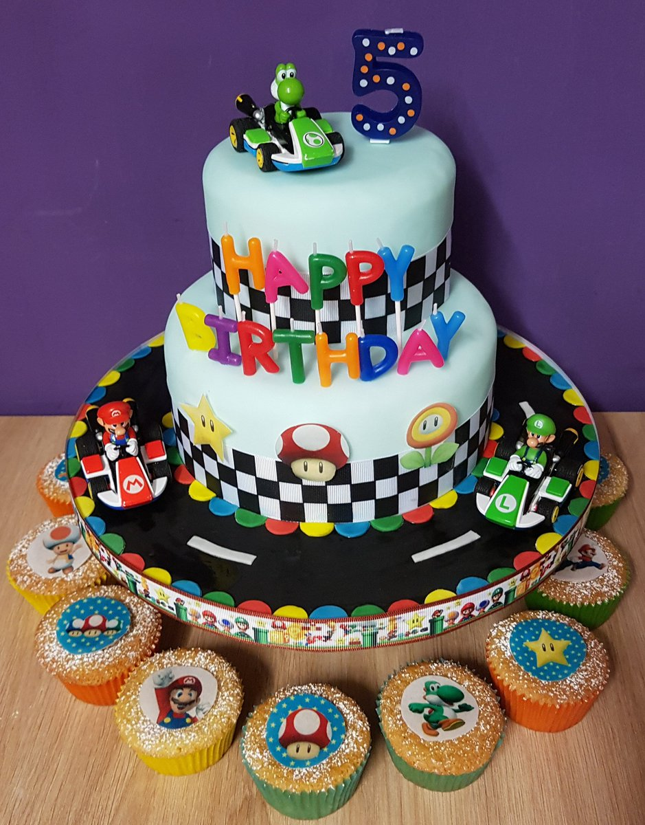 Outstanding Dawn Mackinnon On Twitter Mario Kart Birthday Cake I Made For My Personalised Birthday Cards Sponlily Jamesorg