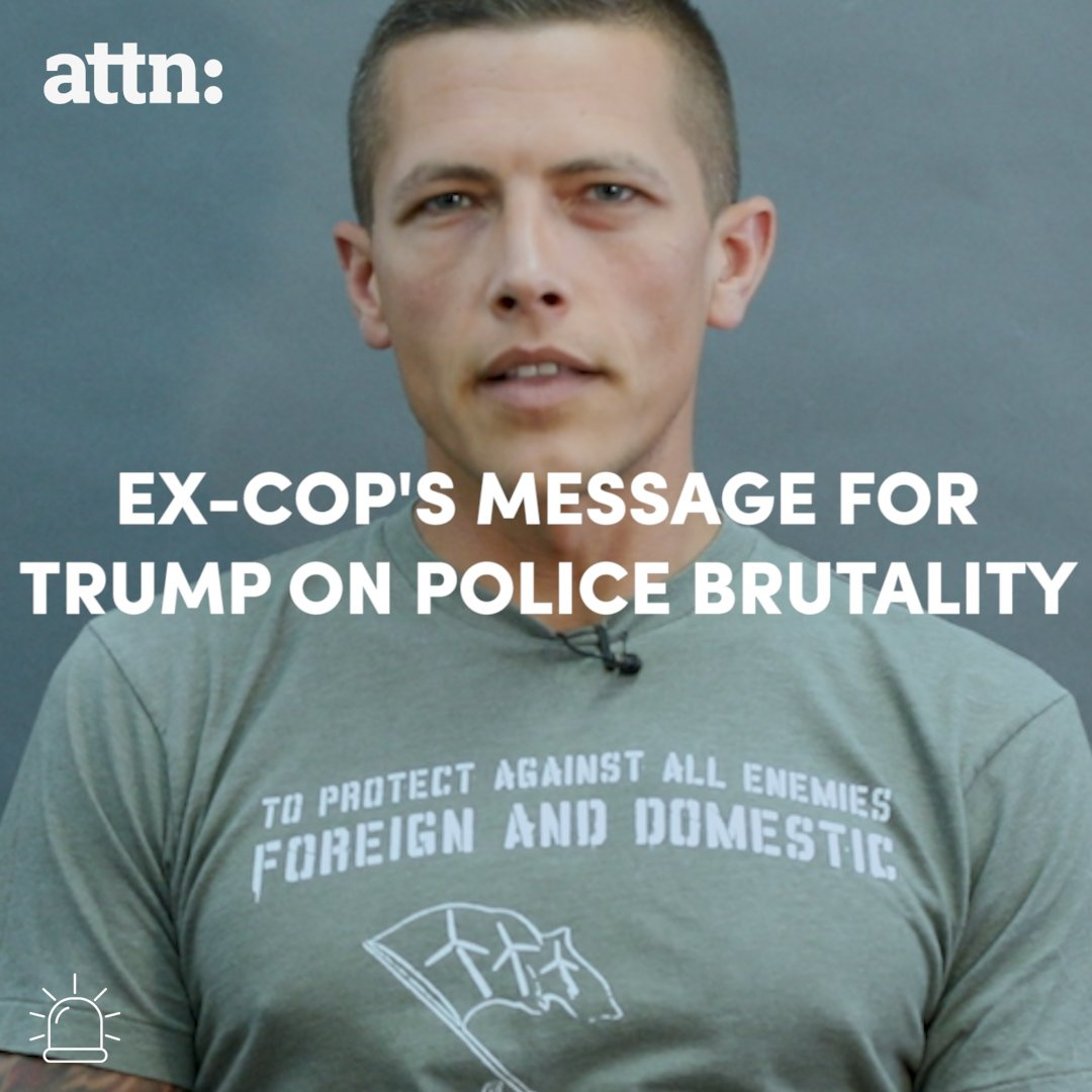 President Trump should listen to this ex-cop about police brutality. https://t.co/kGay8ve8zR