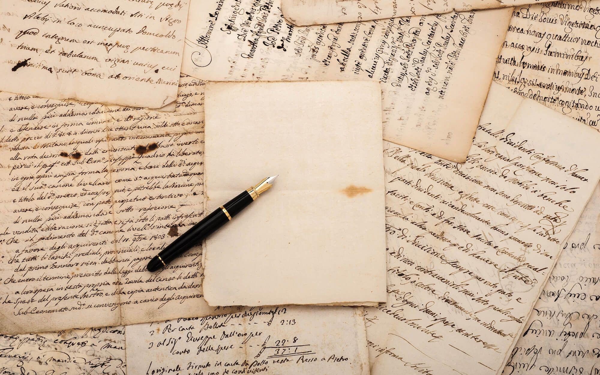 картинка лист бумаги и бумага исписанная показалось пустынное