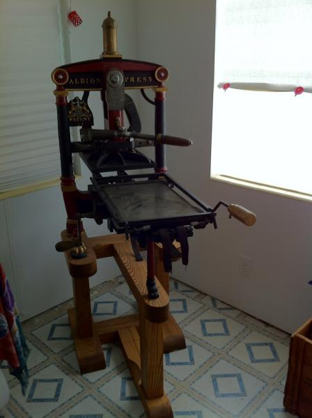 Briar Press On Twitter In The Classifieds 1853 Albion Foolscap Letterpress 9 3 4 X 15 Tabletop All Original Wood Restored