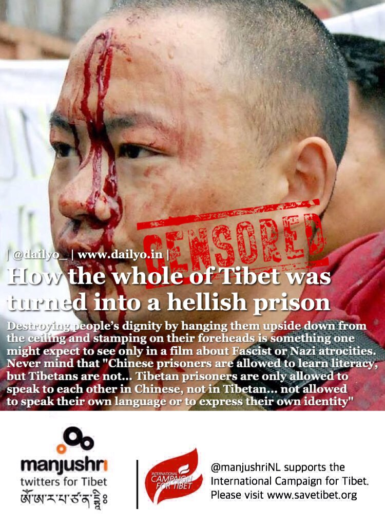 How the whole of #Tibet was turned into a hellish prison:  http://www. dailyo.in/politics/tibet -freedom-china-occupation-the-division-of-heaven-and-earth/story/1/18283.html &nbsp; …   #freeTIBET! #humanrights #amnesty #censorship #dalailama<br>http://pic.twitter.com/lZ8kUxGfa4