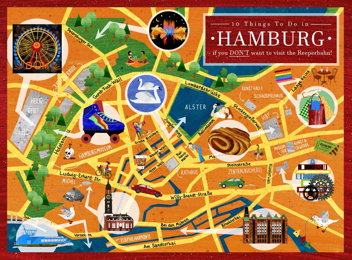 Daniela Faber on Twitter Map of Hamburg city centre my first