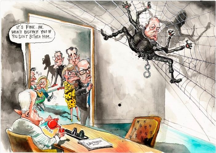 #auspol #thedrum @TurnbullMalcolm willing to risk everything to save his arse. #NaziThug @PeterDutton_MP head of #HomeOffice via @nobby15<br>http://pic.twitter.com/3DdQZMRYxM