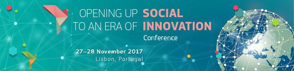 SAVE THE DATE! 27-28 November 2017 &quot;Opening up to an Era of Social Innovation&quot; #Lisbon #socinn #socent #impact #sochange #innovation #change<br>http://pic.twitter.com/W3eNZICFz4