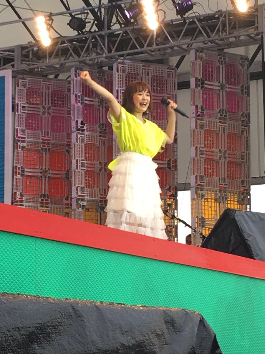 大原櫻子 めざましライブ無事終了しました✨なんと開演前に雨が上がるという奇跡が😭💕新曲「マイ フェイ…