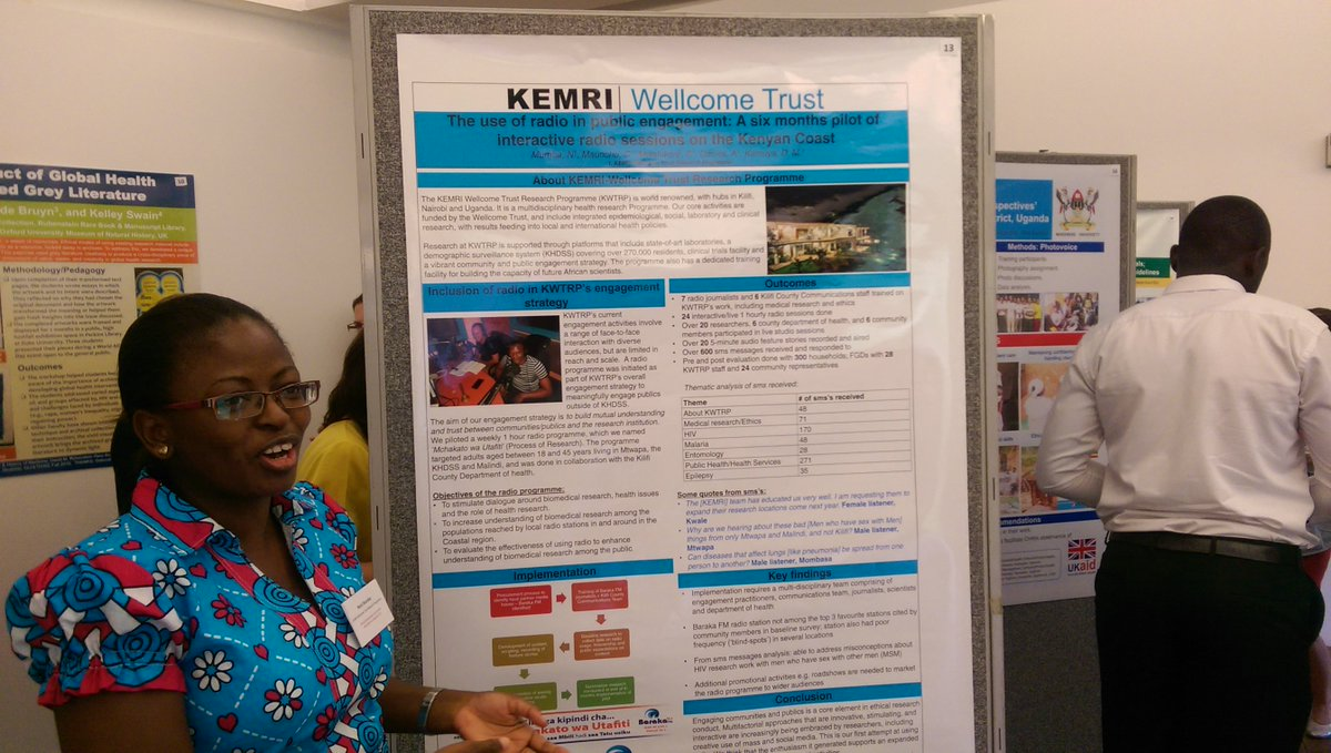 @muhache wins prize at #OGHB2017 for poster  about @wellcometrust funded work with community groups and radio programmes at @KEMRI_Wellcome<br>http://pic.twitter.com/cRLtK6T3X9