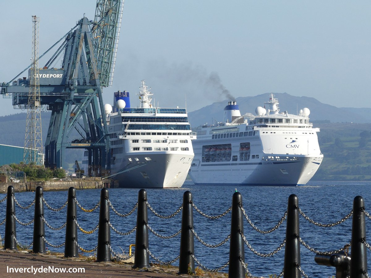 Inverclyde Now On Twitter Cruise Ships Columbus And Adonia Are - Cruise ships at greenock