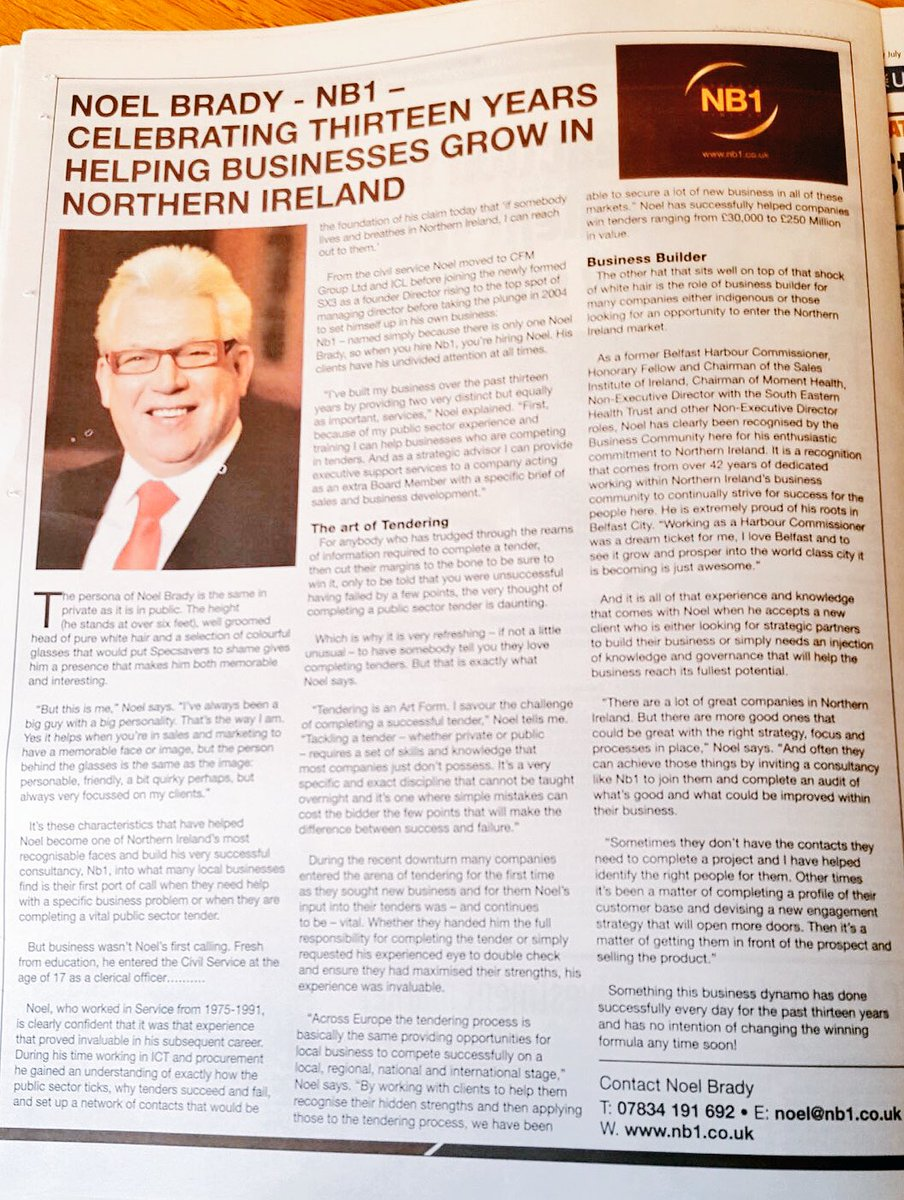 who&#39;s talking in @BelTel #business 2day my #Chairman Noel benefiting from #experience #governance #tenders #contacts #humour &amp; the &#39;s <br>http://pic.twitter.com/3fIpHXx5ef