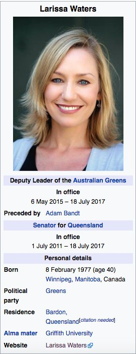 Impressive resume. Accomplished woman. Asset to Australia politics. Yet one unforgivable defect: Born In Canada! ! https://t.co/OYMCzPkdND https://t.co/bETA1hfCDo