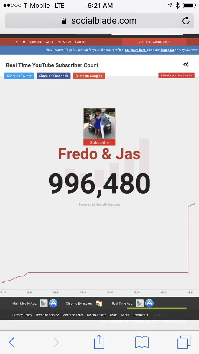 RT @Prettyboyfredo: 1 Mill 1 Mill 1 Mill 1 Mill 1 Mill 😈.... Today is the day !!!!!! ♥️🌊🙏🏾 https://t.co/VCiQWcch37