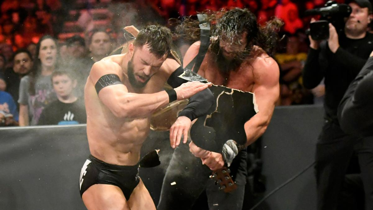 .@IAmSamsonWWE hit the right note in his clash on #RAW last night with @FinnBalor!