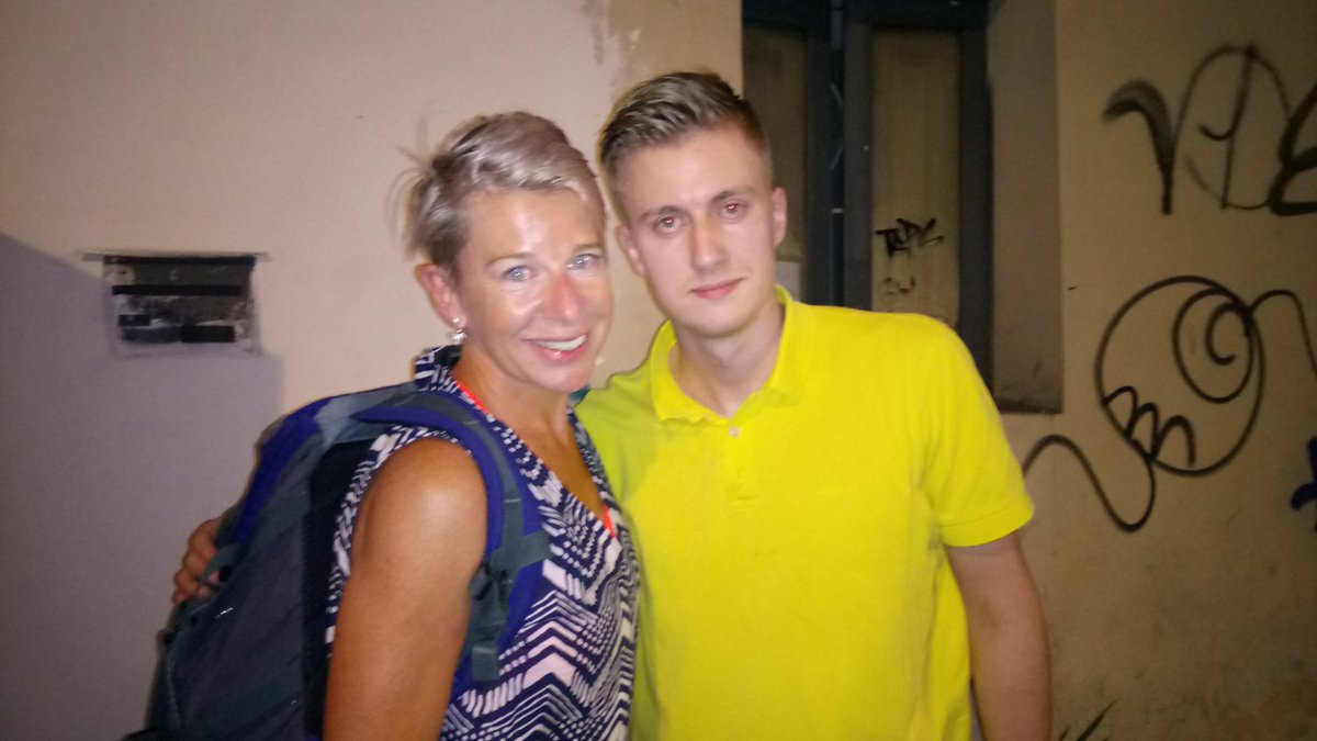 Katie Hopkins with Holocaust denier Peter Sweden