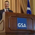 FAS Commissioner Alan Thomas provides opening remarks for GSA's Blockchain Forum #emergingtech #citizenservices