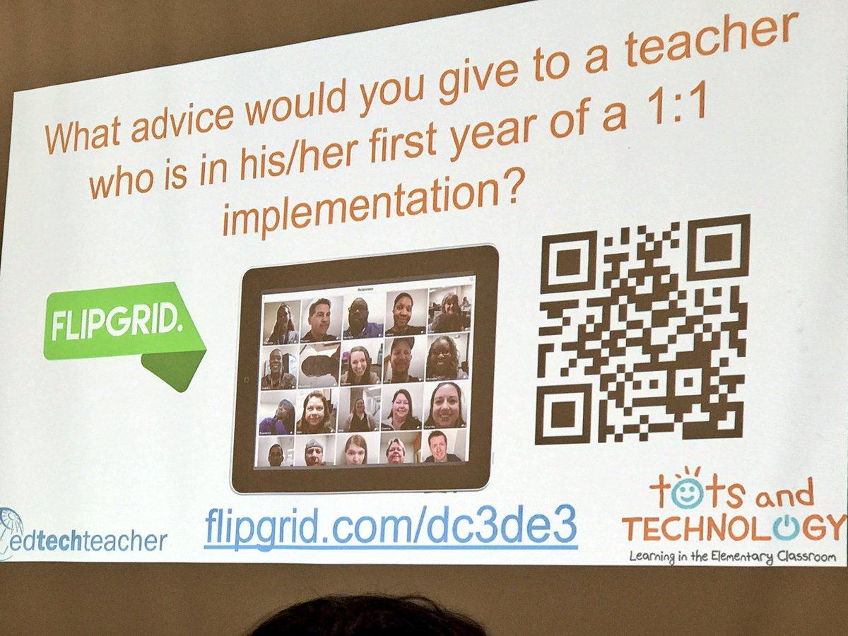 Share your advice for 1:1 tech integration here⤵️⤵️⤵️ #teca #tots @EdTechMason @flipgrid #ISTE17