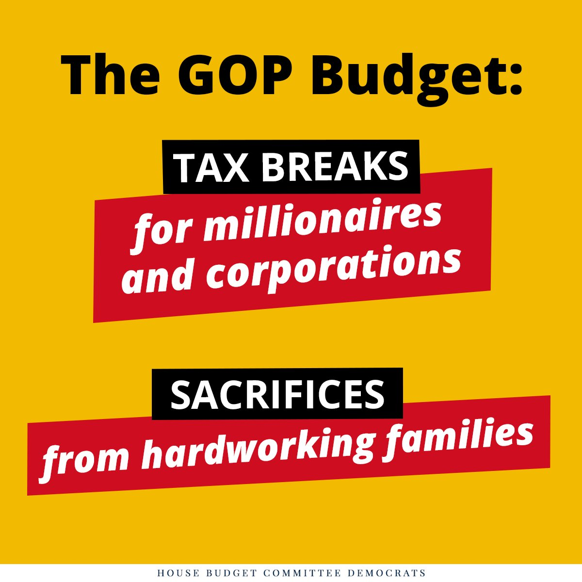 First read of #GOPbudget: huge tax cuts for millionaires, billionaires & corporations at the expense of everyone & everything else. https://t.co/kOsewcYVWj
