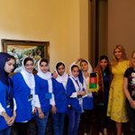 Our #STEMGirls are doing so well at @F1RSTglobal #FGC2017 that @IvankaTrump had to see. Thanks for supporting #Afghanistan & #womeninSTEM