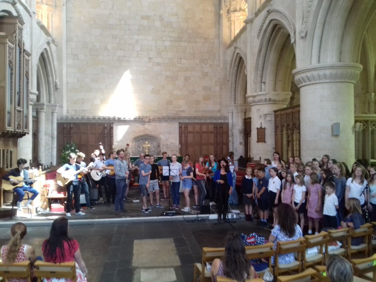 All day rehearsals for tonight gig at Malmesbury abbey. Next stop @WOMADfestival #schoolsproject #workshop #folk #worldmusic<br>http://pic.twitter.com/MbJsrcVYkr