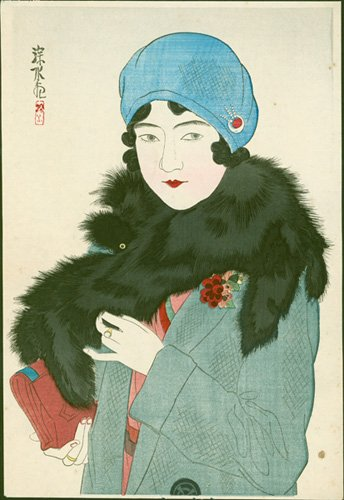 This Ito #Shinsui #woodblock print was an insert in the Jiji newspaper in 1930. Our full sales gallery is here:   http://www. erawoodblockprints.com / &nbsp;  <br>http://pic.twitter.com/g8vRhXxh2H