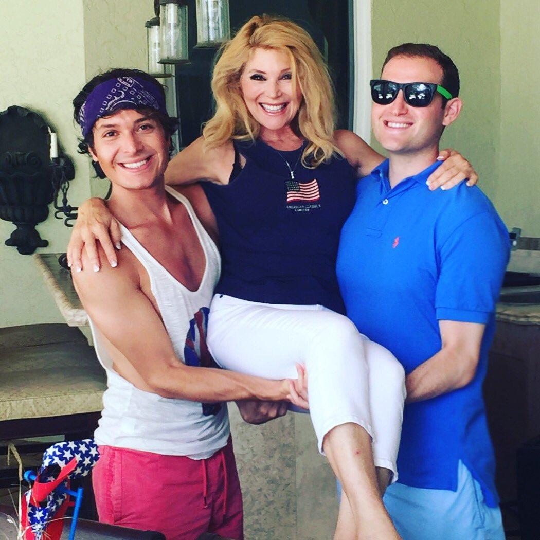 "Audrey Landers Dallas audrey landers on twitter: ""my boys @thedaniellanders & adam"