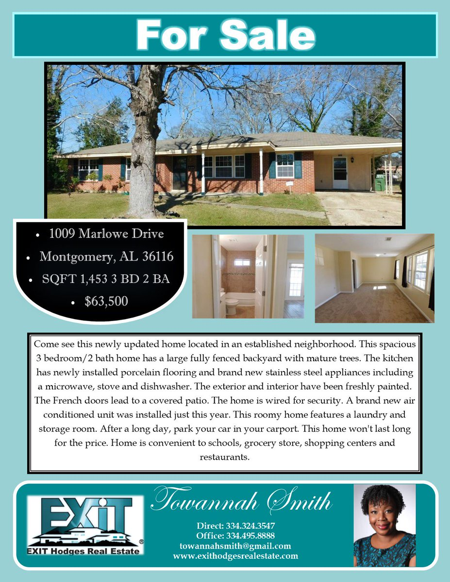 Exit Hodges Realty On Twitter Price Reduced Call Towannah Dixon Smith To Schedule A Showing Today Loveexithodges
