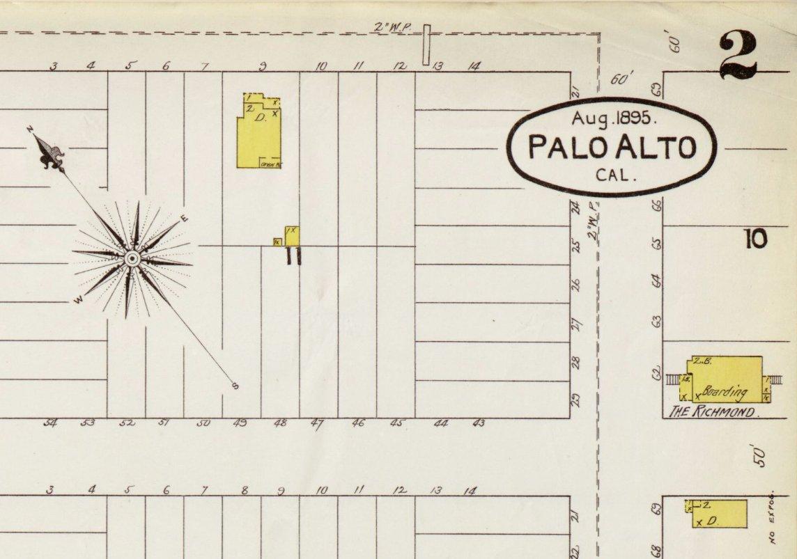 #PaloAlto was 1st recorded by the Spanish in 1769 by Gaspar de Portolà, founder & 1st governor of Alta California  #SanbornSaturday https://t.co/iYO25xH3RH