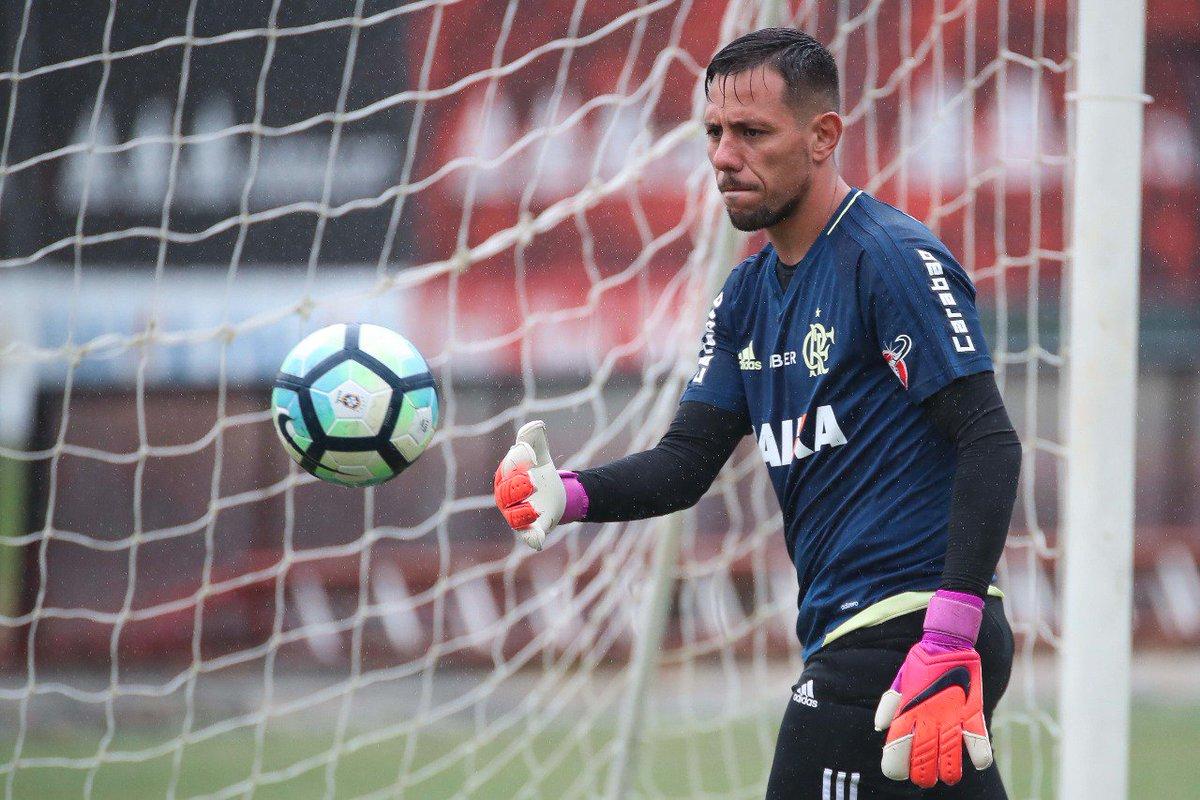 Diego Alves teve seu primeiro dia de treino com o Manto hoje #VamosFlamengo