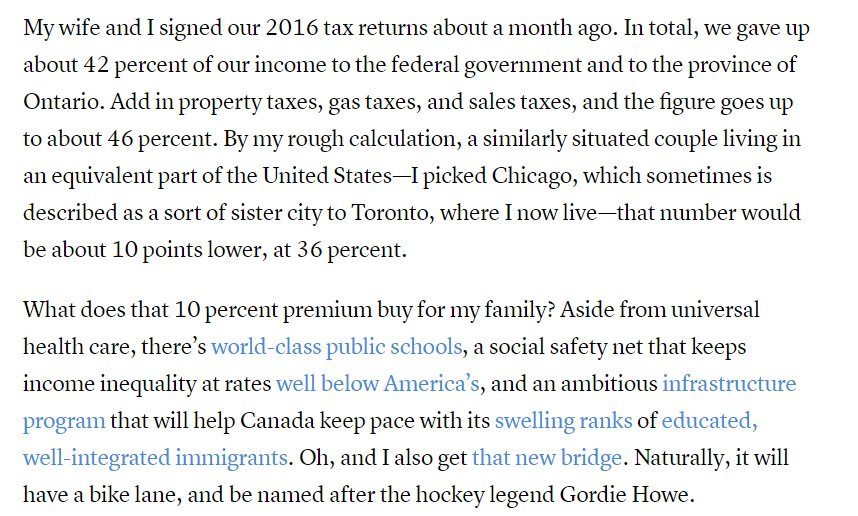 Speaking of Canadian exceptionalism, a persuasive @jonkay essay on the virtues of higher tax rates https://t.co/OvvgEJIryp