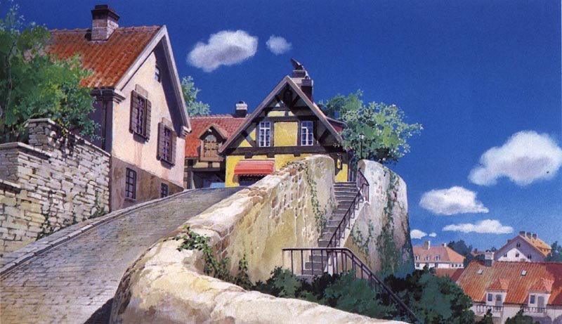 I want to live inside of Kiki's Delivery Service. Every inch of it looks like summer vacation