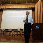 Discussing gov't, #emergingtech and blockchain, today @usgsa's Blockchain Forum w/Congressman David Schweikert (R-AZ)