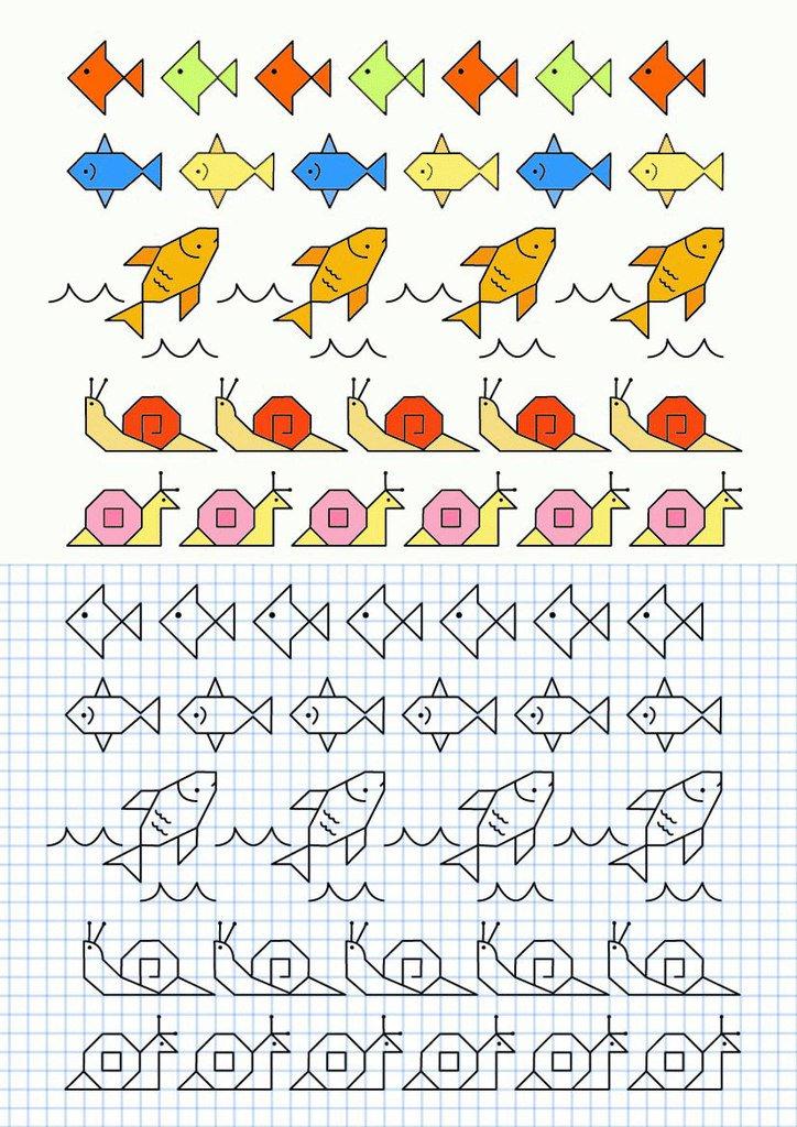 Рисовать по клеточкам в тетради картинки для девочек