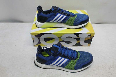 Top  Shoes  Adidas Size 11  Men s Blue Yellow White Ultra Boost Street  Running  Shoe ea32ec3d1