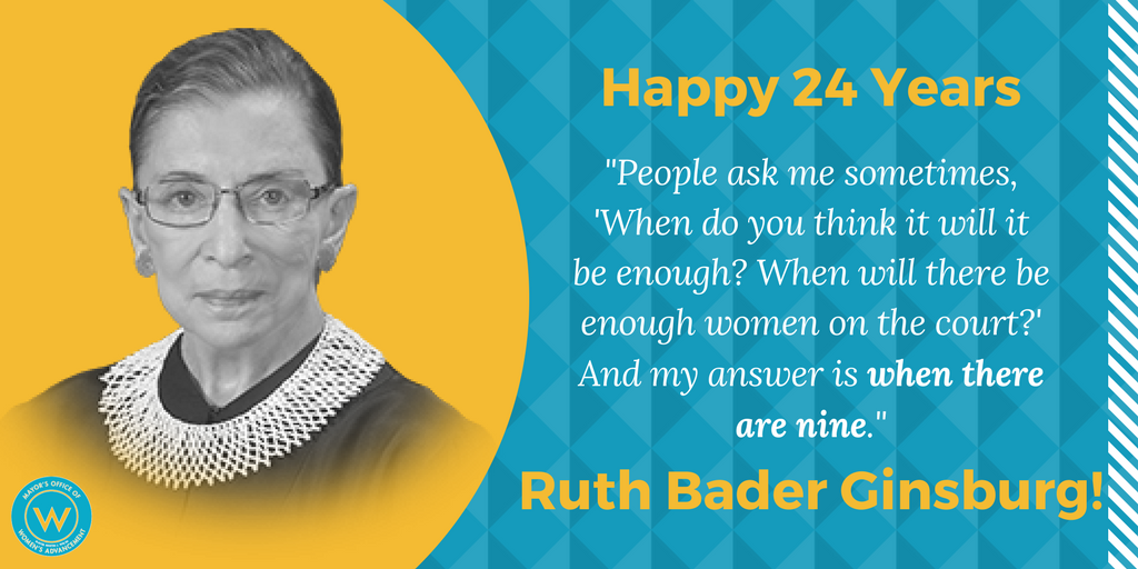 #OnThisDay 24 years ago, #RBG took the oath of office and became the second-ever female justice in the US Supreme Court! <br>http://pic.twitter.com/rVbXN8qNRE