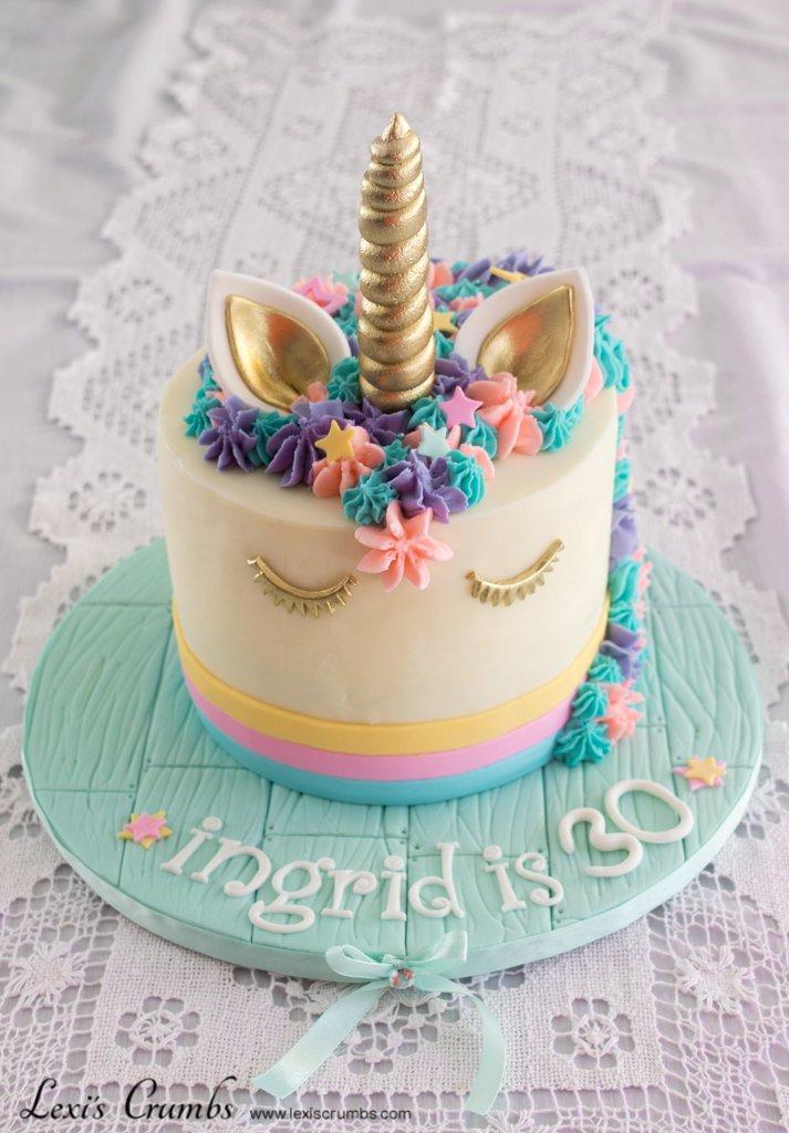 Lexis Crumbs On Twitter Unicorn 30th Birthday Cake