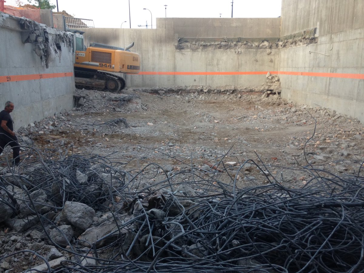 Terminamos los trabajos de demolición en la Universidad Carlos III de Getafe (Madrid)