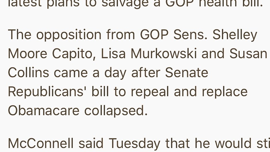 Let it be known @SenCapito @lisamurkowski & @SenatorCollins are the COWARDS of the country. Total sell-outs and liars. We won't forget this