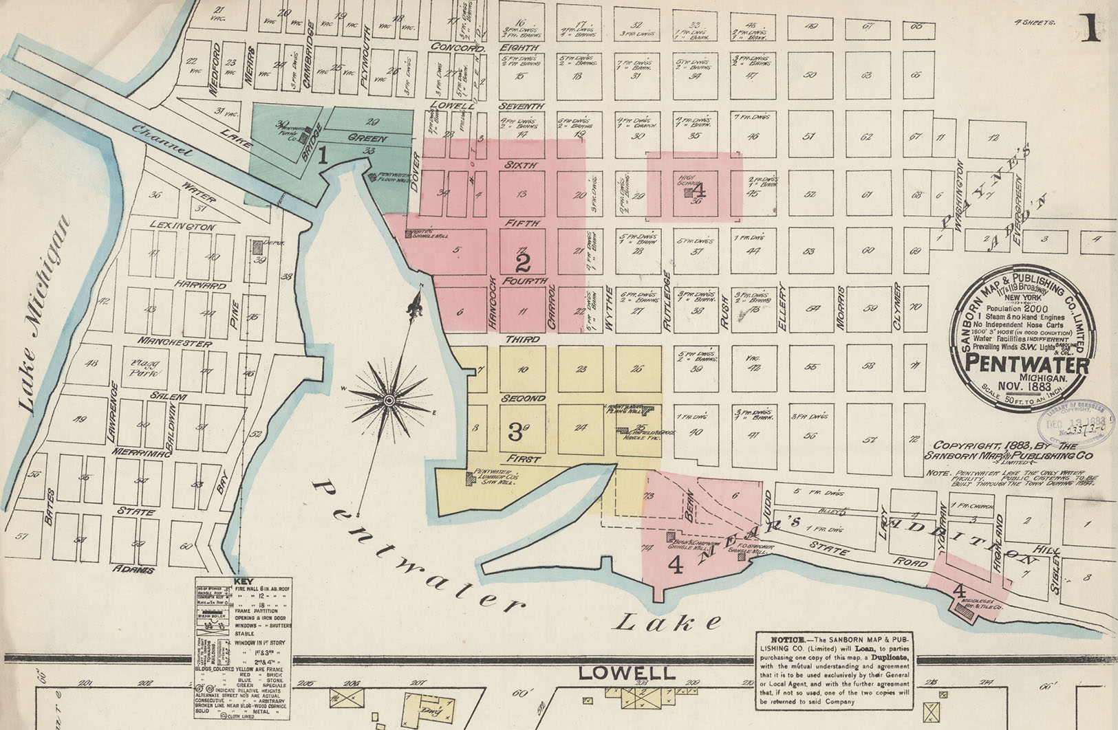 Pentwater, Michigan, in 1883 - happy #SanbornSaturday everyone!  You can see all of Pentwater here -  https://t.co/9YbS59ZNpD https://t.co/rGdVJaVjDv