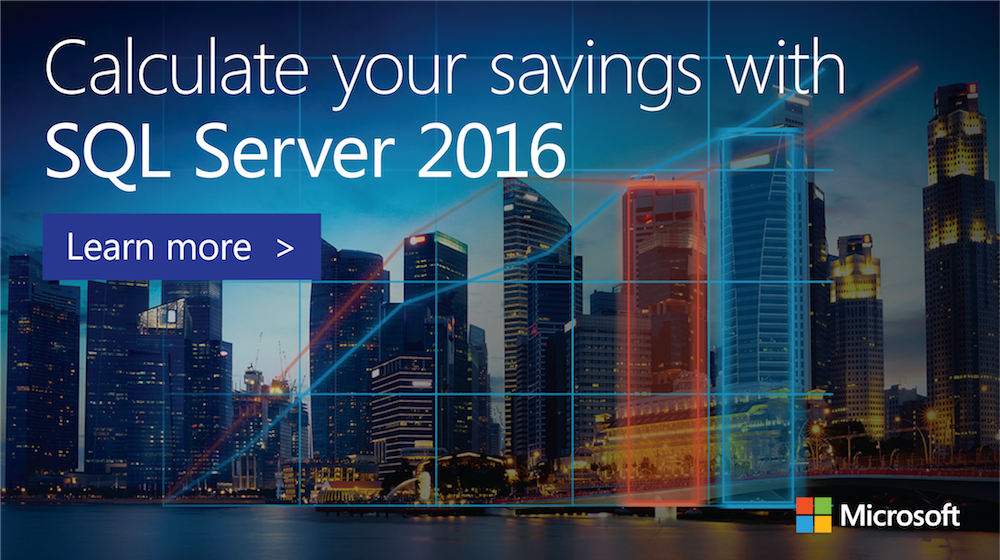 'Discover the cost difference between your current Oracle #solution & #SQLServer 2016. Try our #TCO calculator today: http://sqltcocalculator.azurewebsites.net/' from the web at 'https://pbs.twimg.com/media/DFCvC2DWsAADOLi.png'