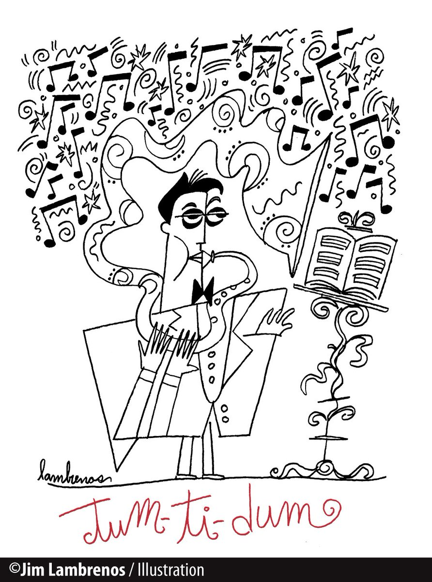 &quot;Tum-Ti-Dum&quot; Personal promotional #illustration announcement. #Graphic #Musician #Music #InkDrawing #Drawing<br>http://pic.twitter.com/Hia0H2FnkQ
