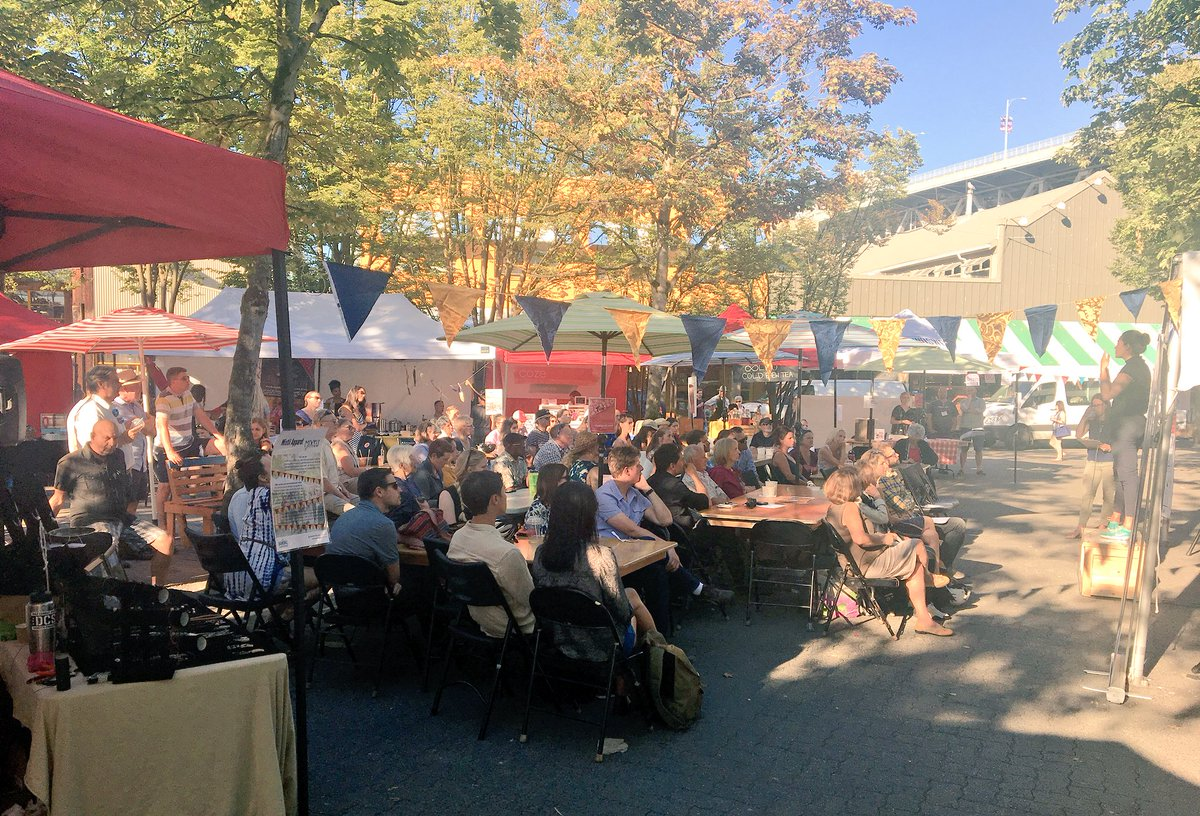 Lovely summer evening outdoors for @vancouverSOUP! #crowdfunding #VancouverSOUP #community #socent #socimp #socinn <br>http://pic.twitter.com/nb1g7IGoZf &ndash; bij Granville Island Public Market