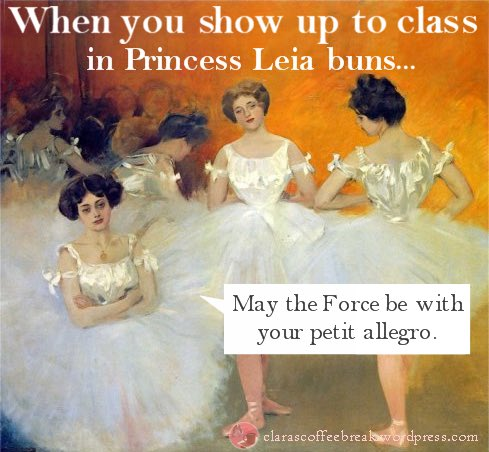 Have you worn #PrincessLeia buns to #ballet class?<br>http://pic.twitter.com/DeD2XRjrb0