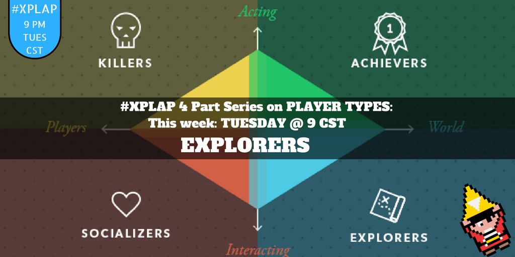 Welcome to #XPLAP! It's gonna be an EPIC chat! Please introduce yourself! #tlap #games4ed https://t.co/KZ3L0OdnAp