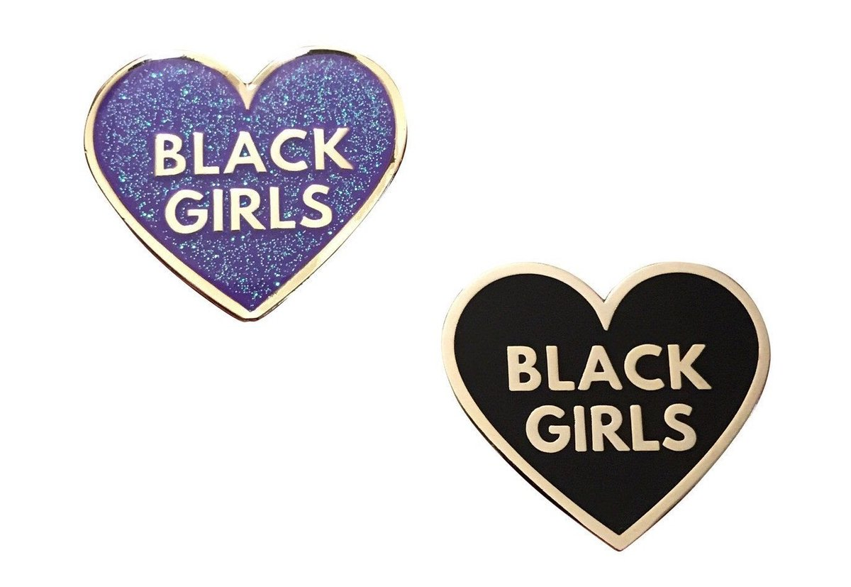 Love Black Girls Pin Pack - Black &amp; Purple  Available here:  http:// bit.ly/2vvOUHc  &nbsp;   #pingame #lapelpins #accessories via @outfy<br>http://pic.twitter.com/e0tKizFhIP